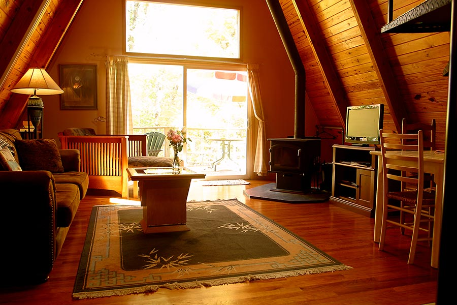 Cabin Kingfisher Living Room