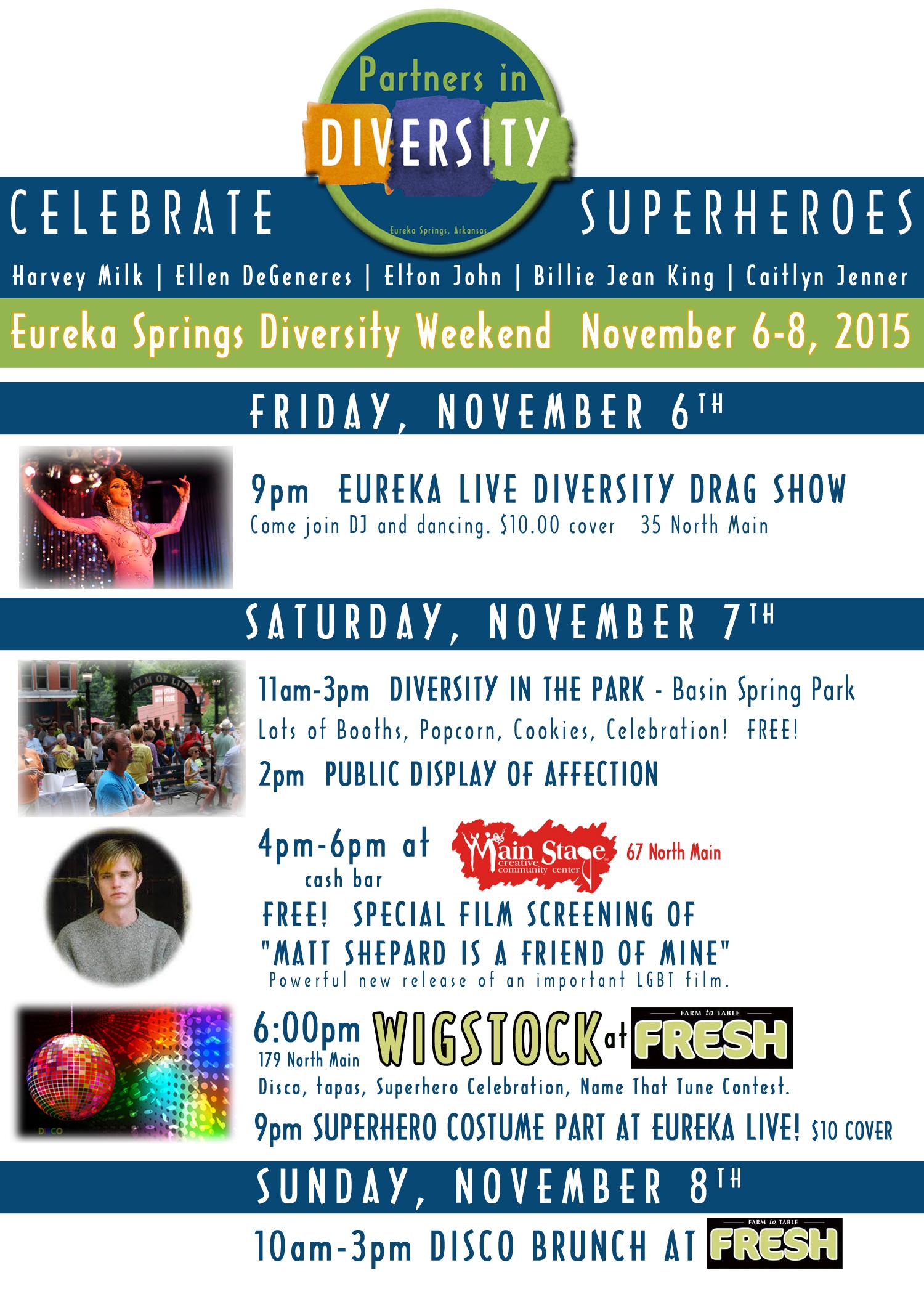 Fall Diversity Eureka Springs Poster